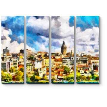 Модульная картина Прекрасный Стамбул солнечным днем