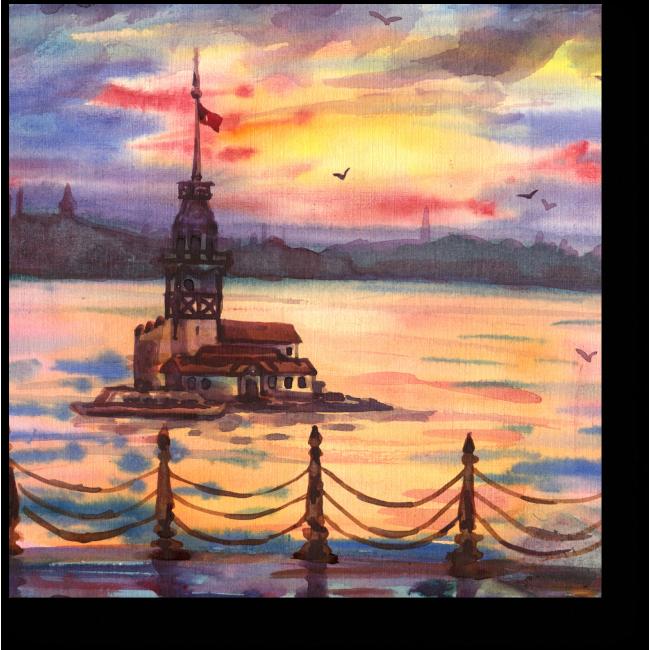 Модульная картина Девичья башня, Стамбул