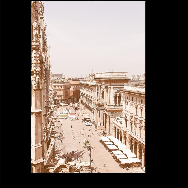 Модульная картина Винтажное фото Милана