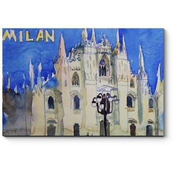Акварельная открытка из Милана