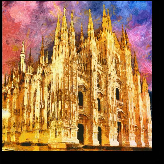 Модульная картина Вечерние краски Милана