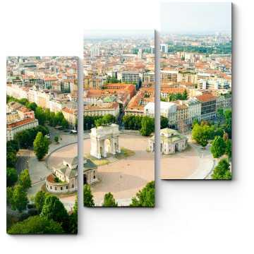 Модульная картина Панорама летнего Милана