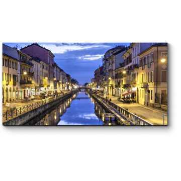 Модульная картина Зеркальная гладь Большого Миланского канала