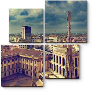 Захватывающая панорама с крыши Миланского Собора