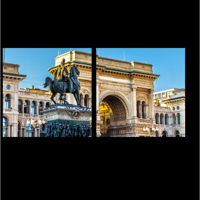 Модульная картина Знаменитая Галерея Витторио Эмануеле, Милан