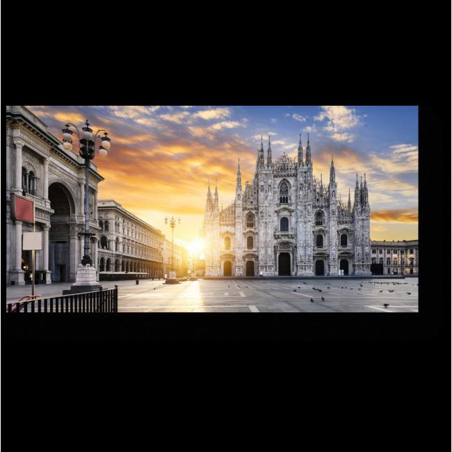 Модульная картина Неподражаемый Милан на рассвете