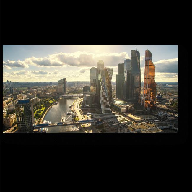 Модульная картина Международный бизнес центр. Москва