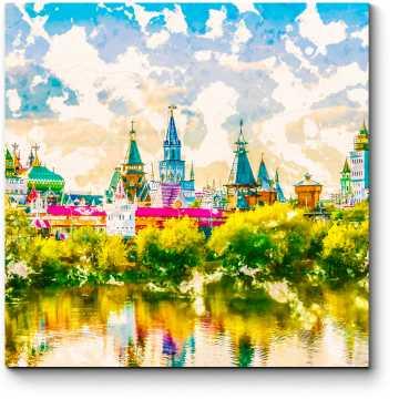 Измайловский Кремль солнечным днем, Москва