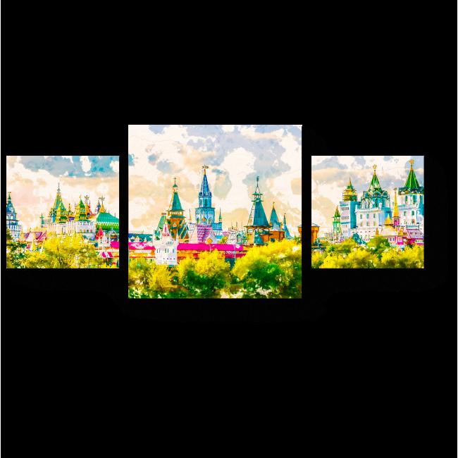 Модульная картина Измайловский Кремль солнечным днем, Москва