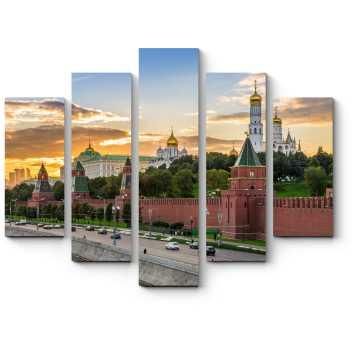 Модульная картина Закат в самом сердце Москвы