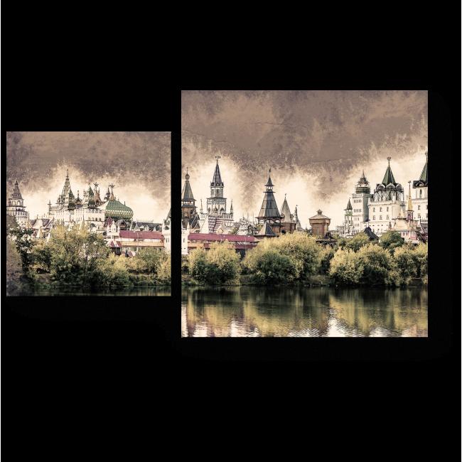 Модульная картина Кремль в Измайлово, Москва