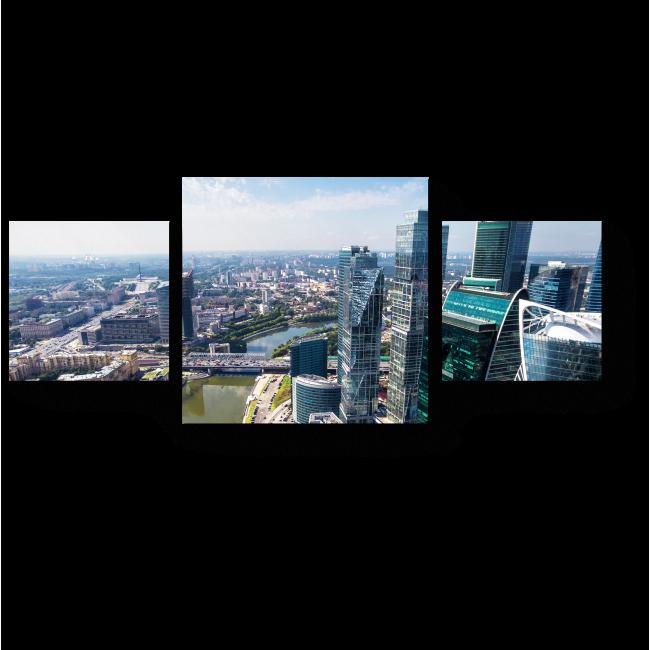 Модульная картина Бизнес центр солнечным днем, Москва