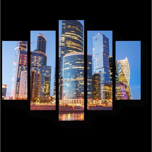 Модульная картина Деловый центр столицы, Москва