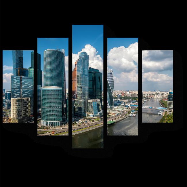 Модульная картина Деловой центр Москвы