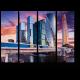 Бизнес центр на закате, Москва