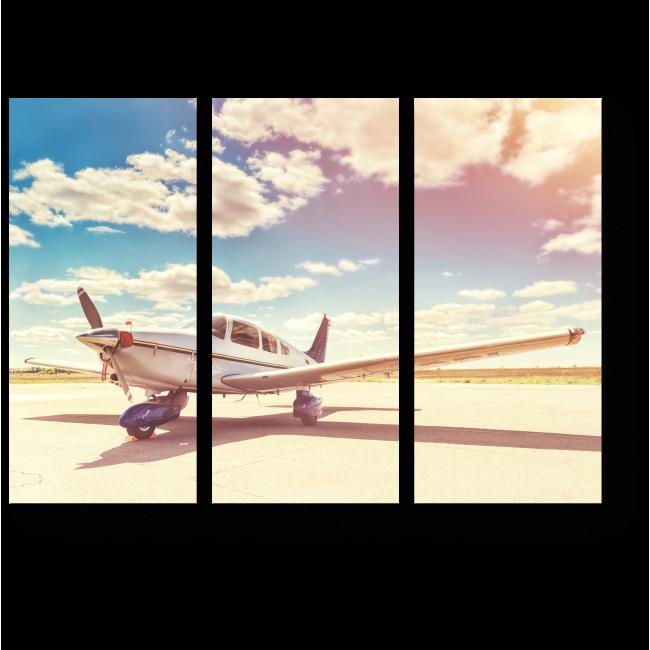 Модульная картина Солнечный день в аэропорту