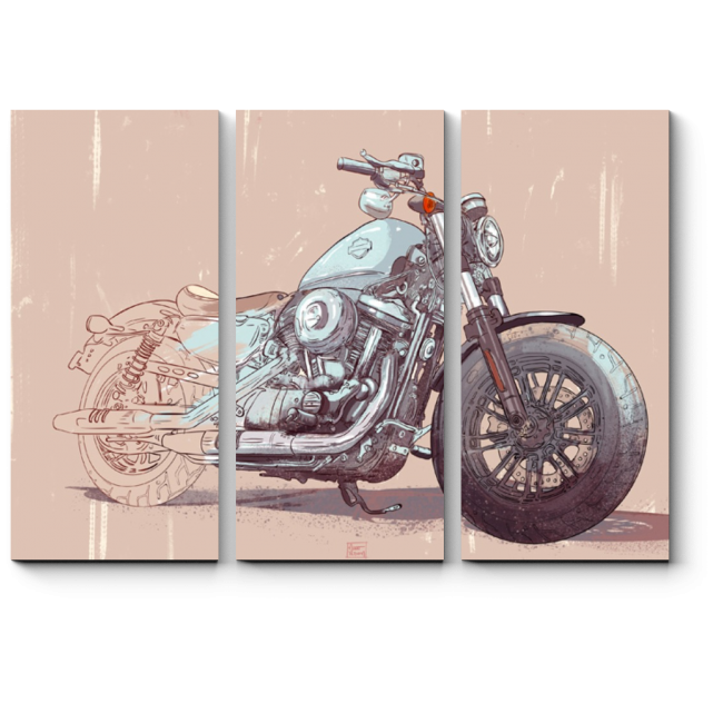 Модульная картина Harley-Davidson 48