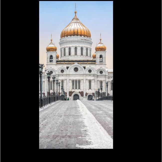 Модульная картина Патриархальный мост к Храму Христа Спасителя