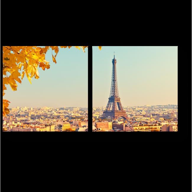 Модульная картина Золотая осень в Париже