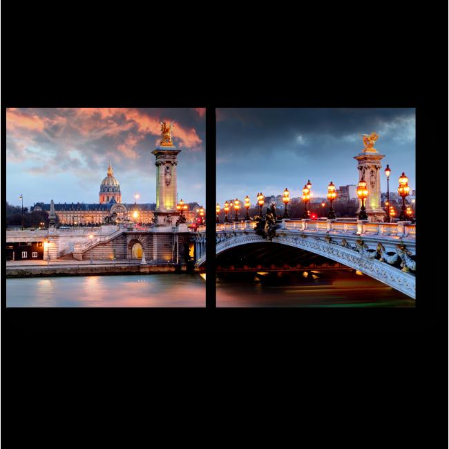 Модульная картина Мост Александра 3 в Париже