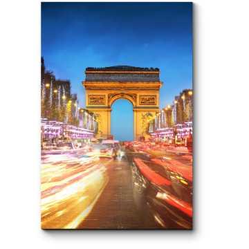 Модульная картина Париж никогда не спит