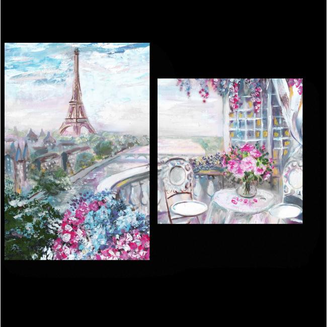 Модульная картина Летнее кафе в Париже