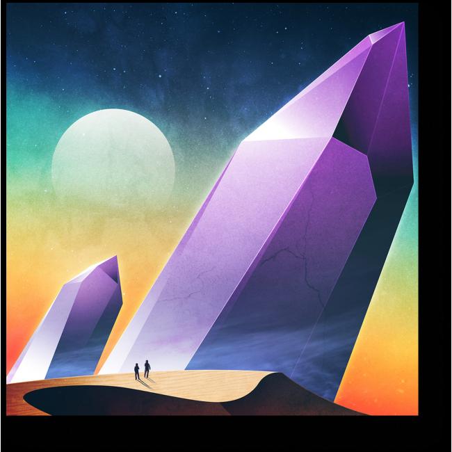 Модульная картина Космические приключения #3