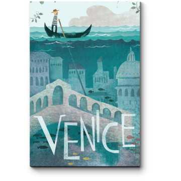 Модульная картина Проплывая над Венецией
