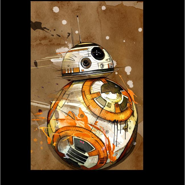 Модульная картина Боевой дроид