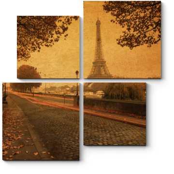 Модульная картина Винтажный Париж