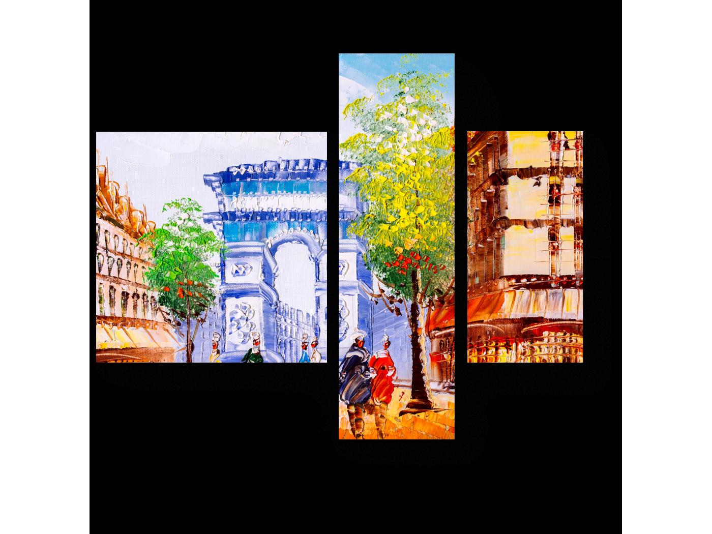 Модульная картина На улочках Парижа (80x66) фото