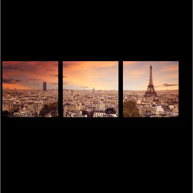 Модульная картина Прекрасный Париж с высоты