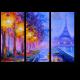Эйфелева Башня в свете фонарей