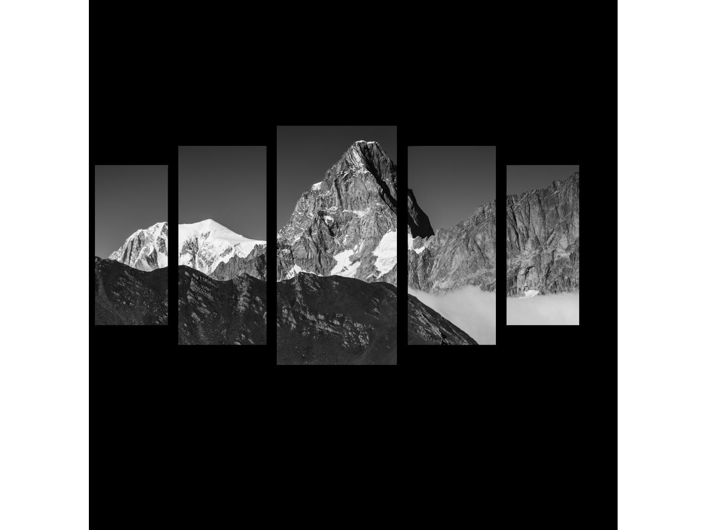 Модульная картина Величественные горы (100x55) фото