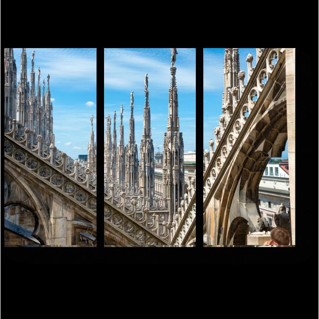 Модульная картина Мраморные скульптуры Миланского собора