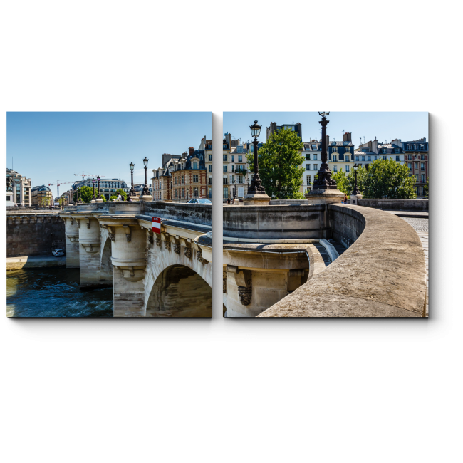 Модульная картина Париж летом особенно хорош