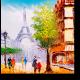 Прекрасный Париж маслом