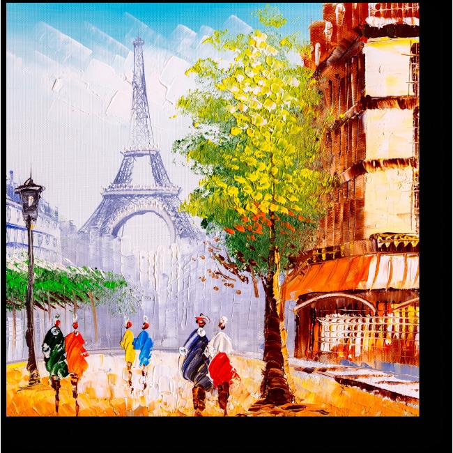 Модульная картина Прекрасный Париж маслом