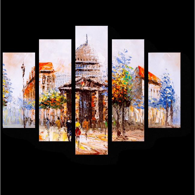 Модульная картина Неповторимый дух Парижа