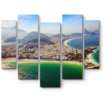 Модульная картина Пролетая над солнечным Рио-де-Жанейро