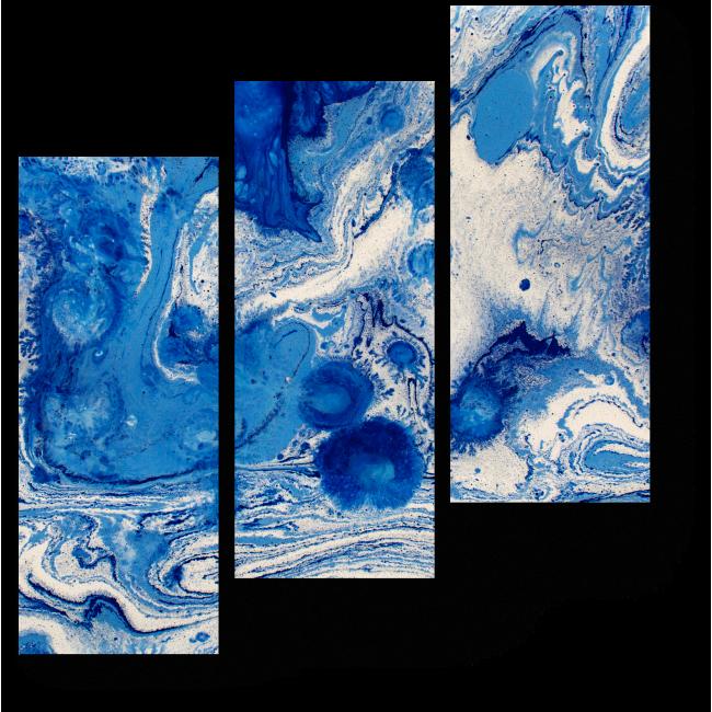 Модульная картина Белое и синее