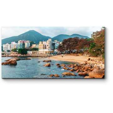 Модульная картина Уютный песчаный пляж, Гонконг