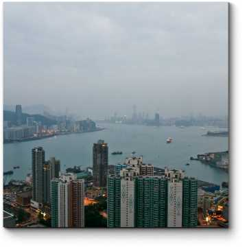 Модульная картина Пробуждающийся Гонконг