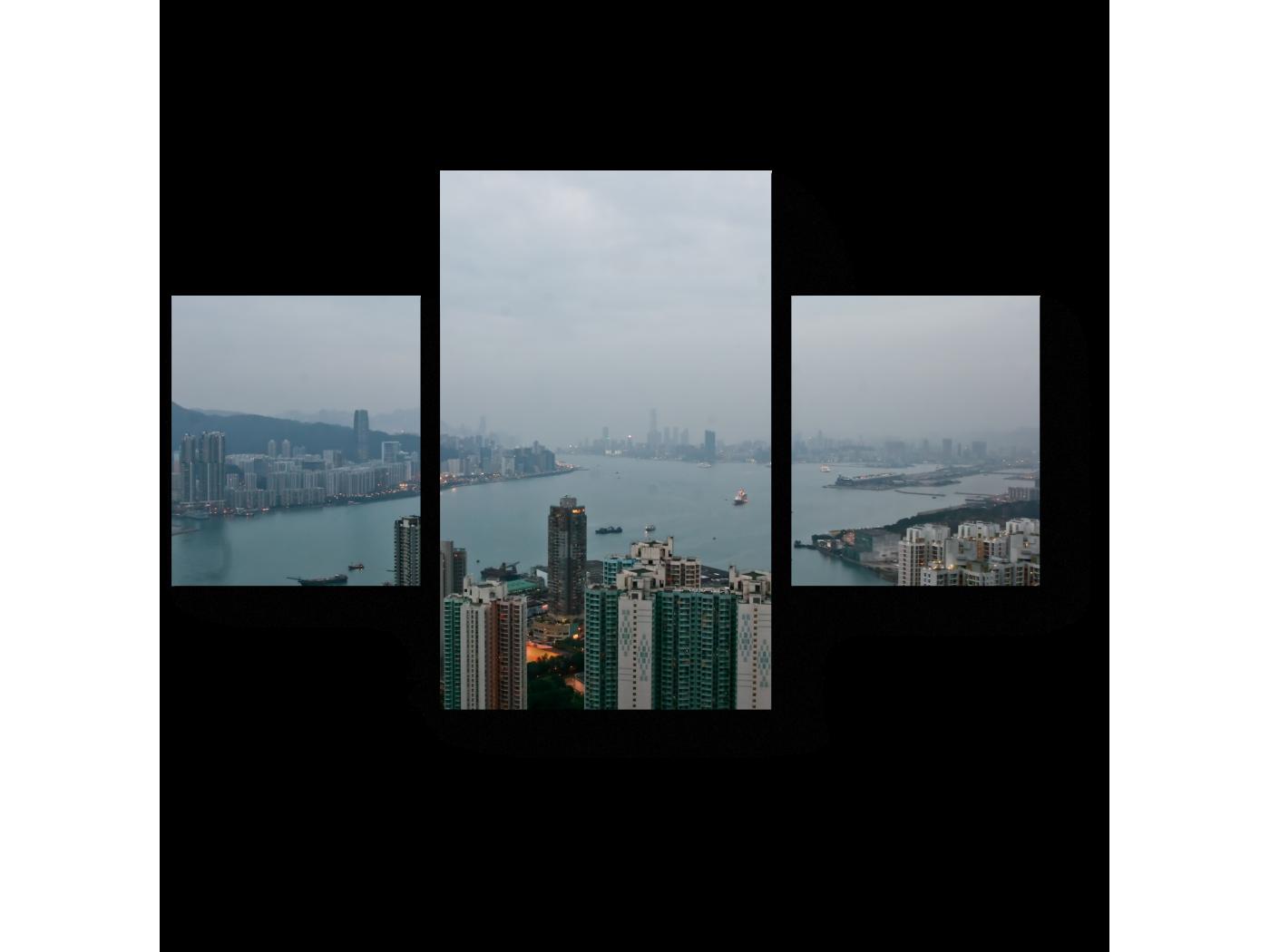 Модульная картина Пробуждающийся Гонконг (80x52) фото