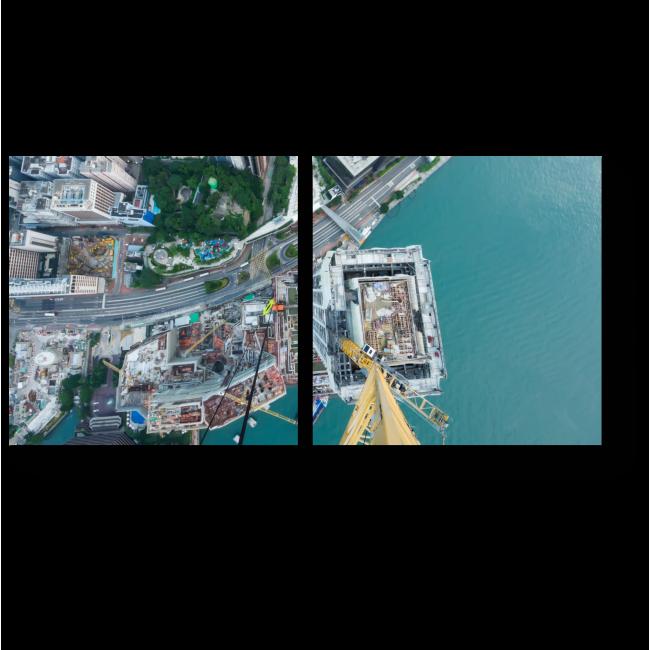 Модульная картина Гонконг с головокружительной высоты