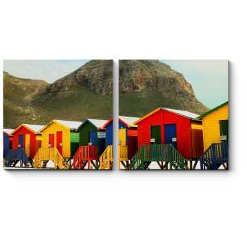 Яркие пляжные домики