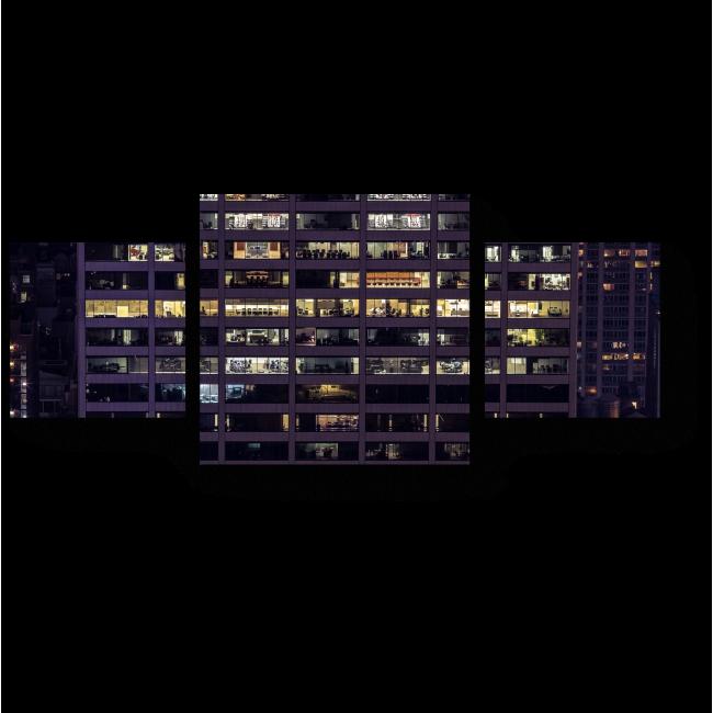 Модульная картина Окна Нью-Йорка