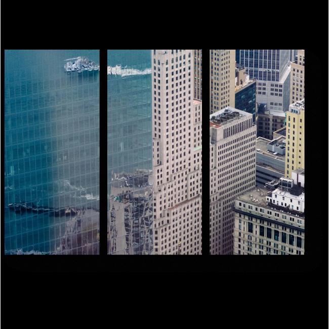 Модульная картина Отражение в здании