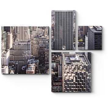 Модульная картина Большой город