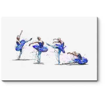 Модульная картина Акварельные балерины